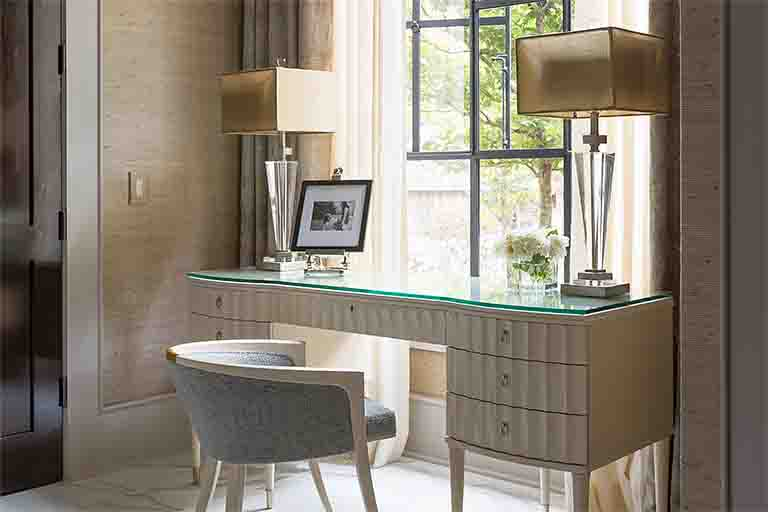 Writing Desk - Blackberry Farm Smoky Mountain Home - R.Higgins Interiors Design