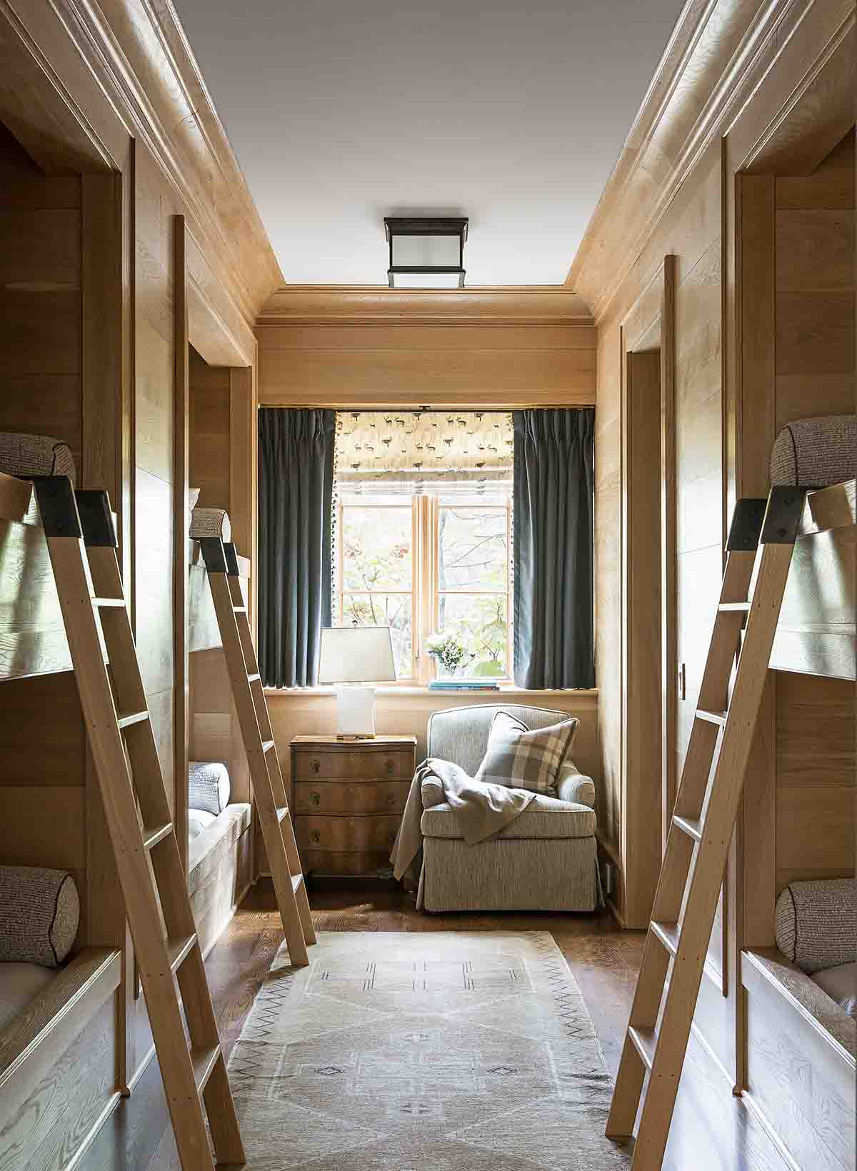 Bunk room -  Blackberry Farm Smoky Mountain Home - R.Higgins Interiors Design