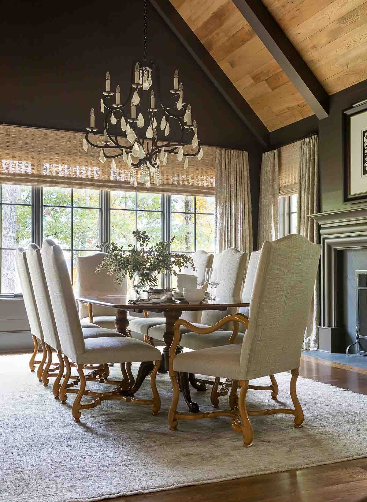 Paneled Ceiling - Blackberry Farm Smoky Mountain Home - R.Higgins Interiors Design