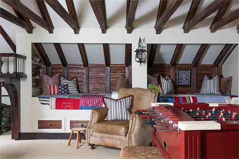 Attic Playroom Design - Historic Natchez Trace Home - R.Higgins Interiors