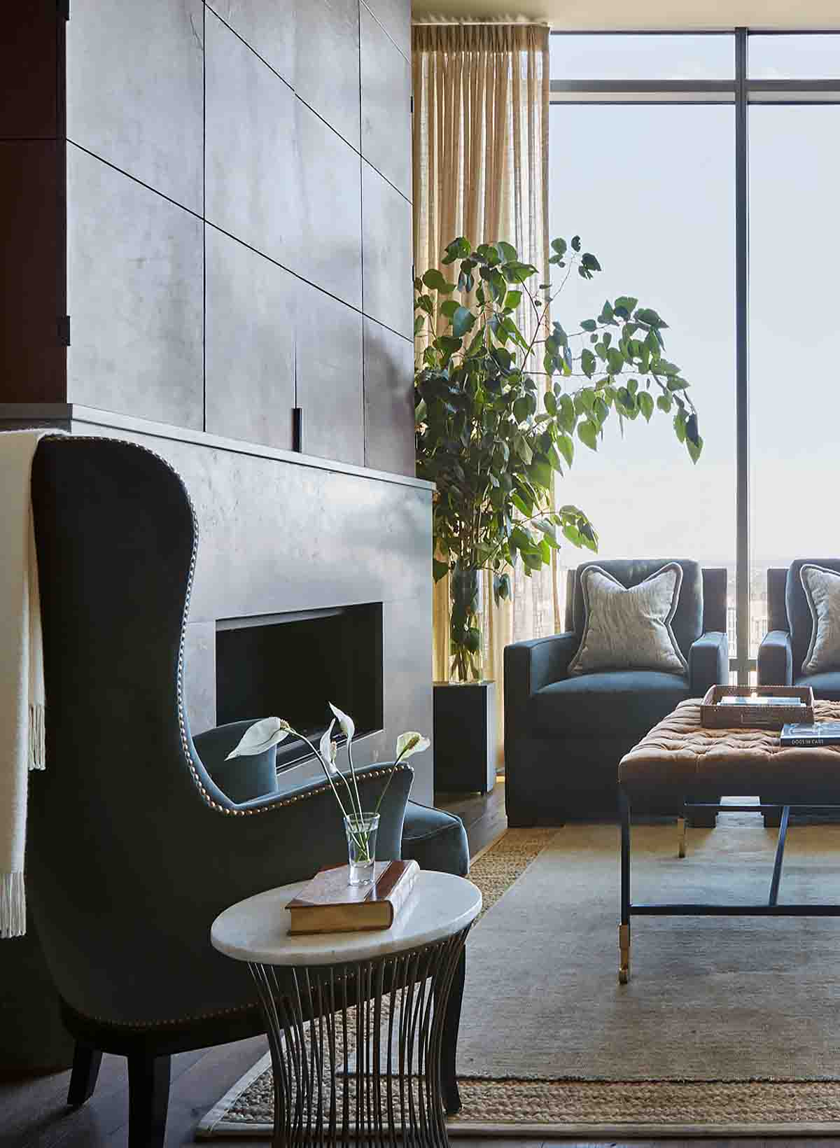 Hidden TV Design - Nashville Penthouse - R.Higgins Interiors