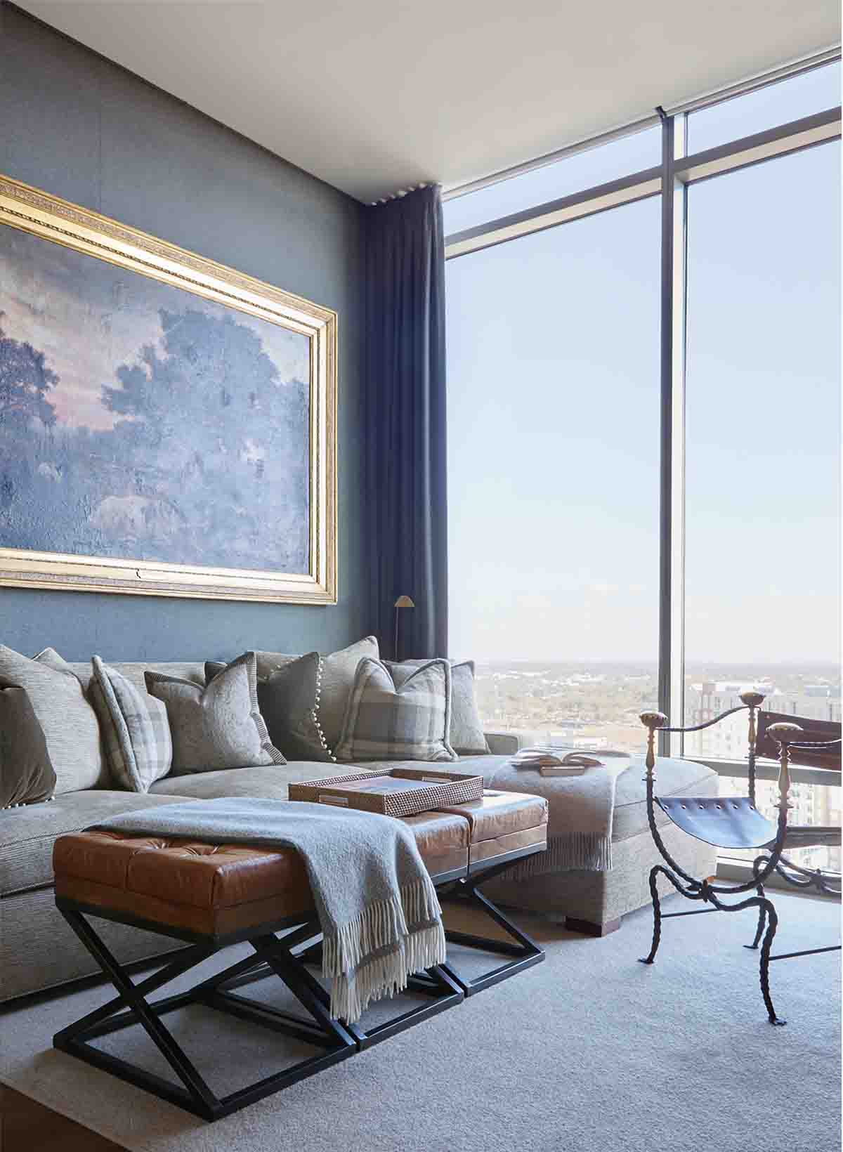 Room with a View - Nashville Penthouse - R.Higgins Interiors