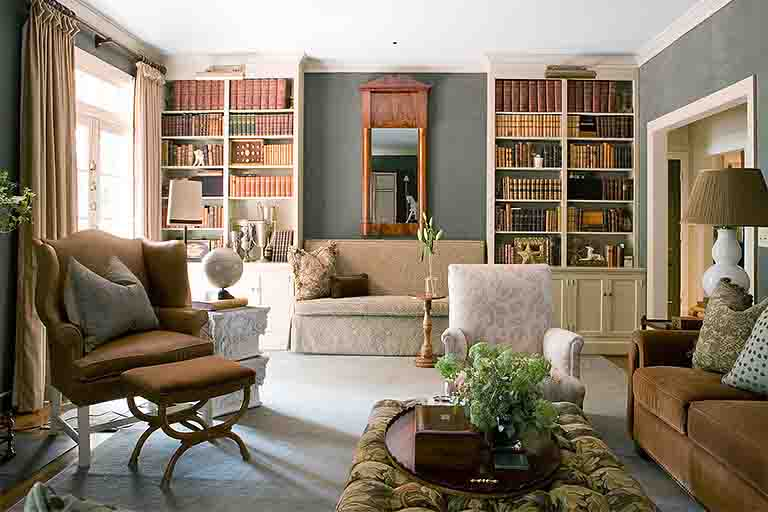 Library - Woodlawn Drive Home - R.Higgins Interiors