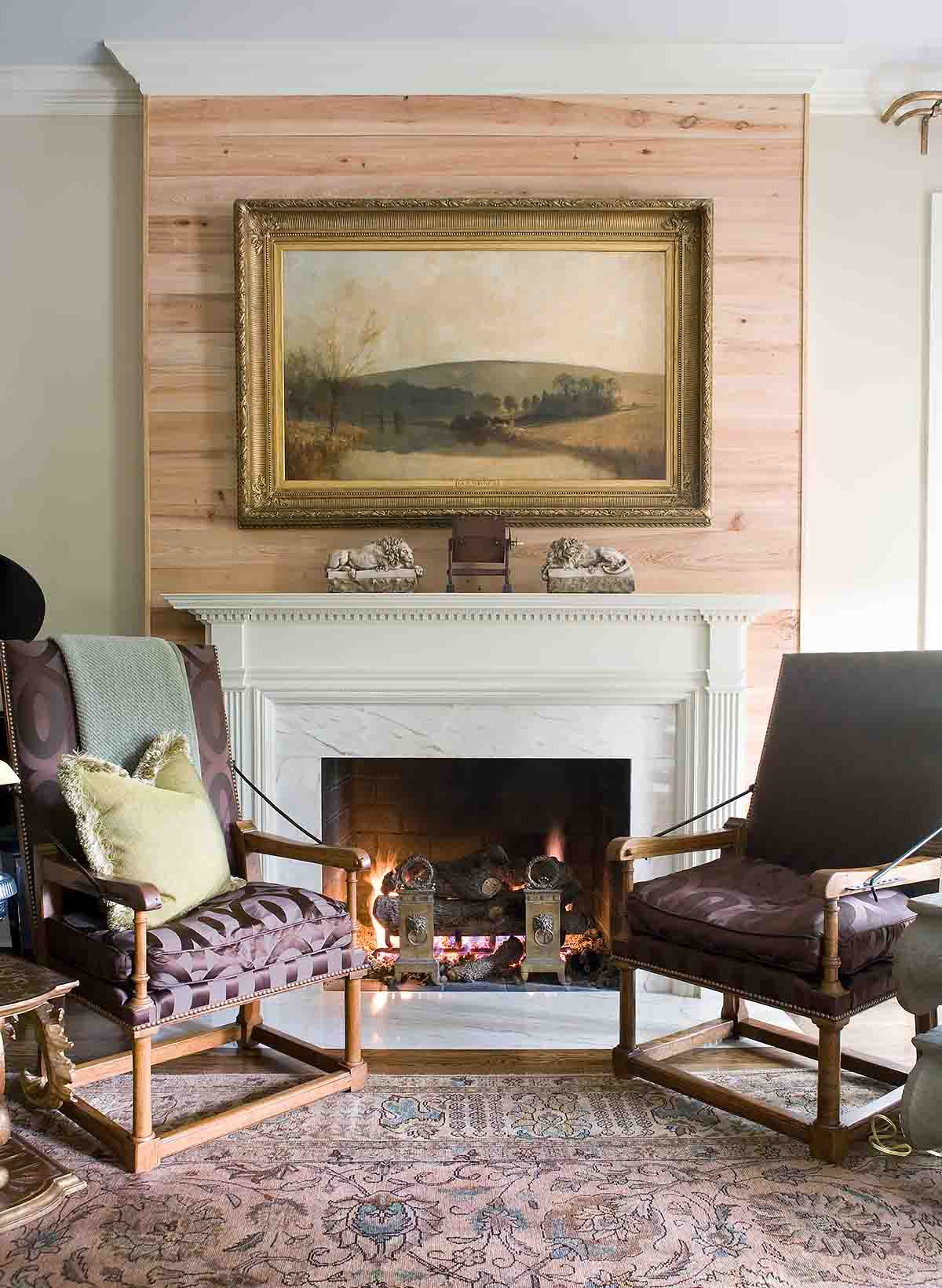 Fireplace - Woodlawn Drive Home - R.Higgins Interiors Design